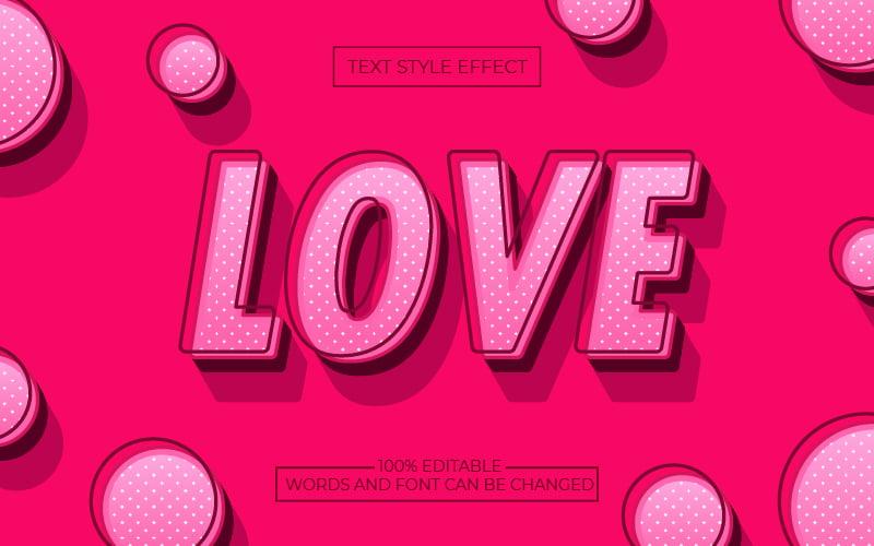 Pink Polka Dot Text Effect