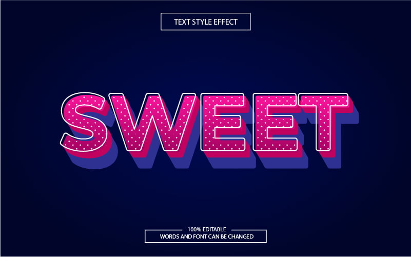 Polka-dot Striped Pink Text Effect