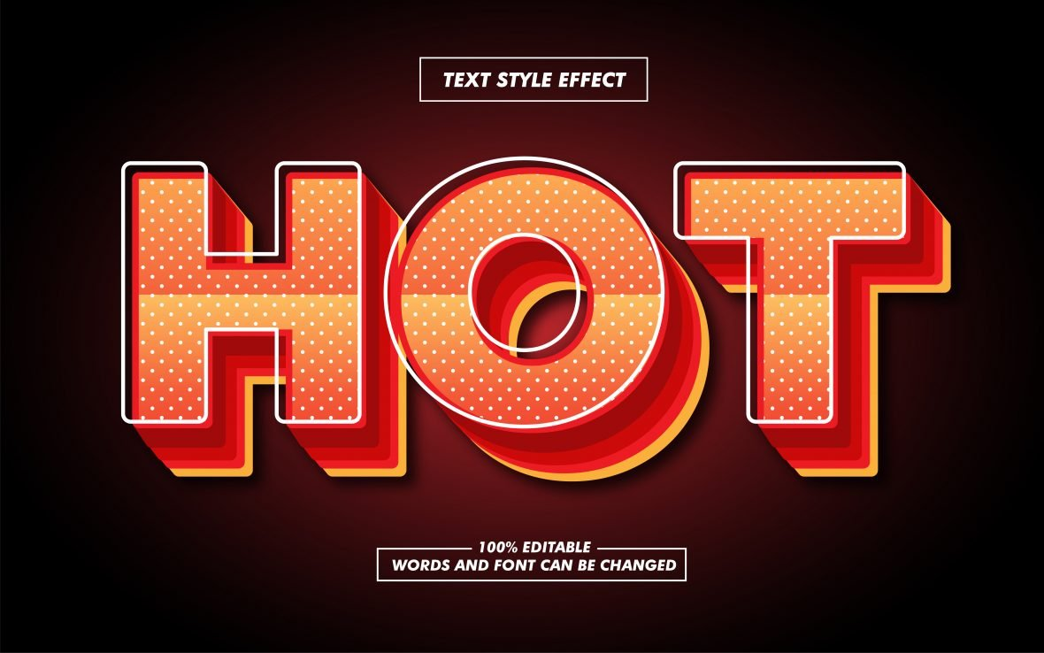 Retro Hot Orange Text Effect