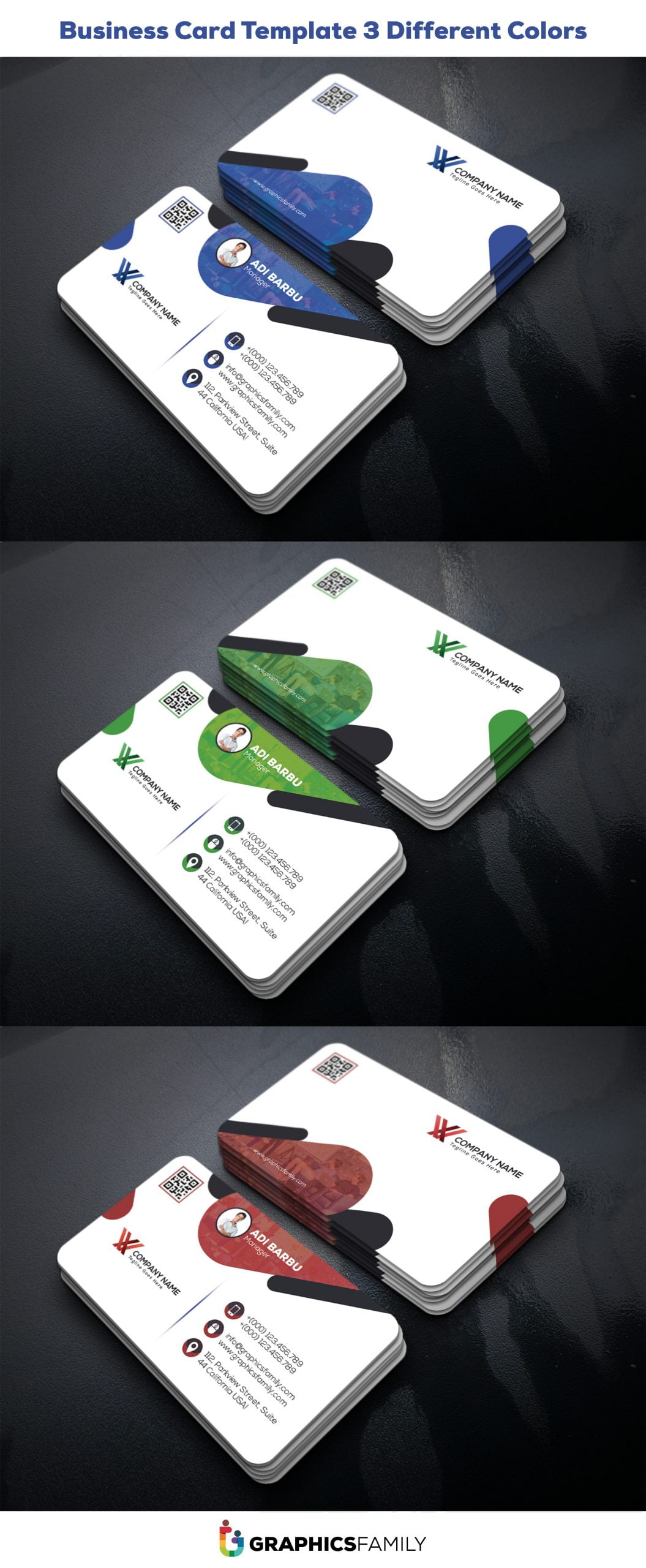 Company Manager Business Card Design