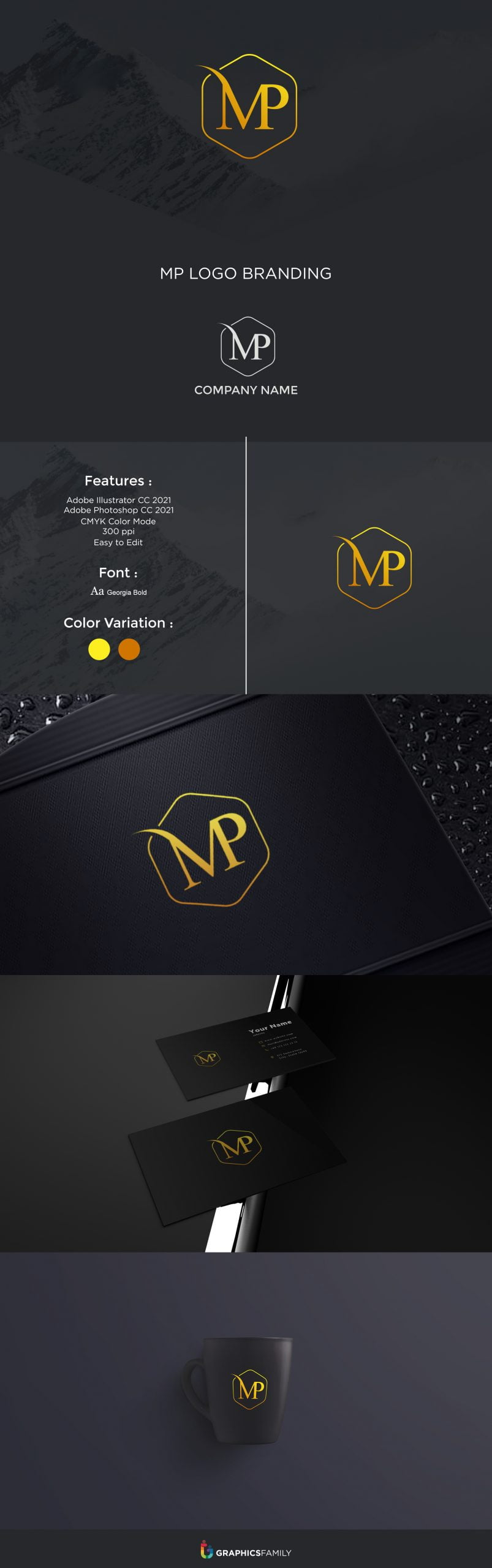 Professional MP Logo Design Download