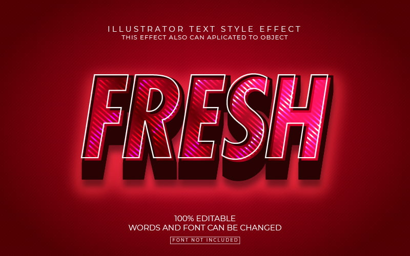Red Vibes Text Effect