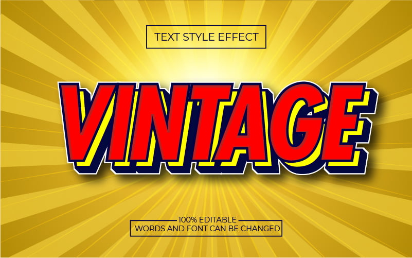 Red Vintage Layer Text Effect