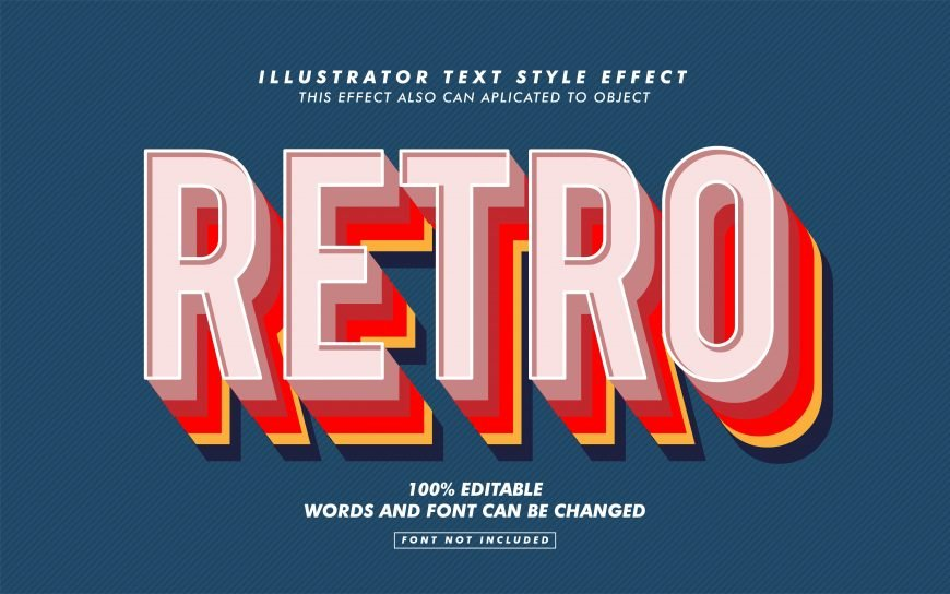 Retro Layer Text Effect