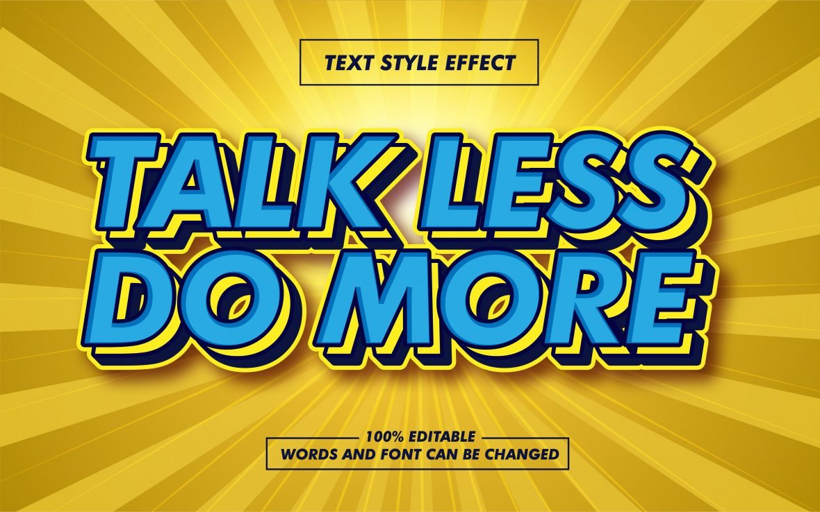 Retro Layered Blue Text Effect