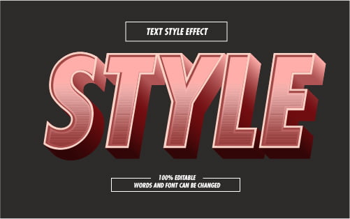 Retro Style Pink Text Effect