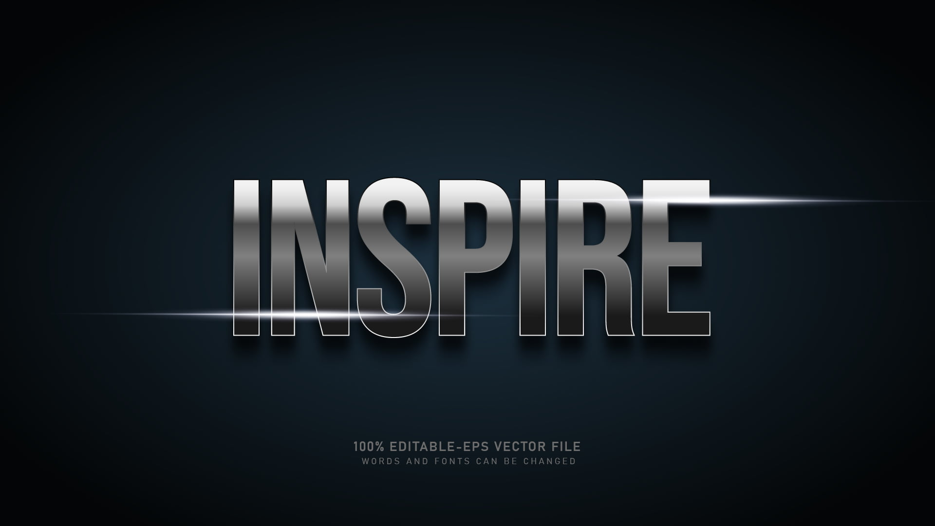 Silver Gradient Text Effect