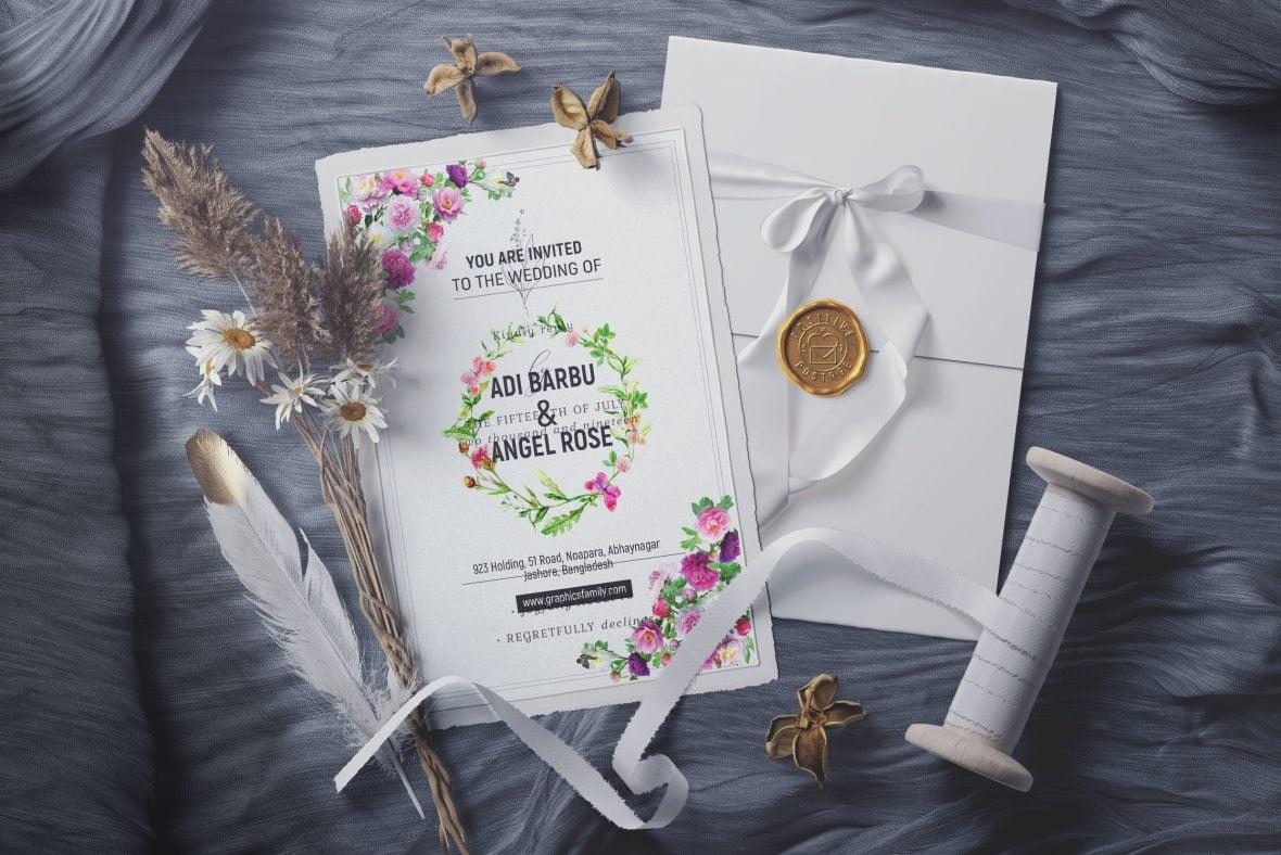 Simple Wedding Card Design Template