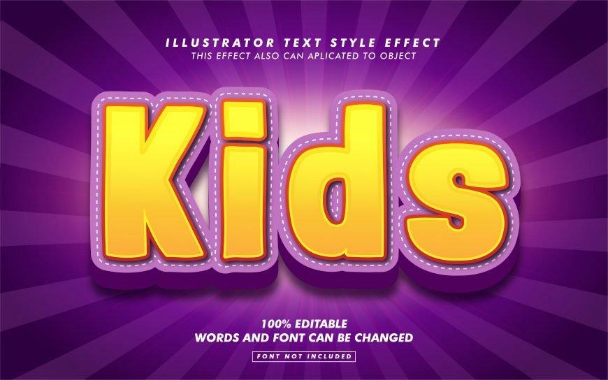 Sweet Kids Text Effect
