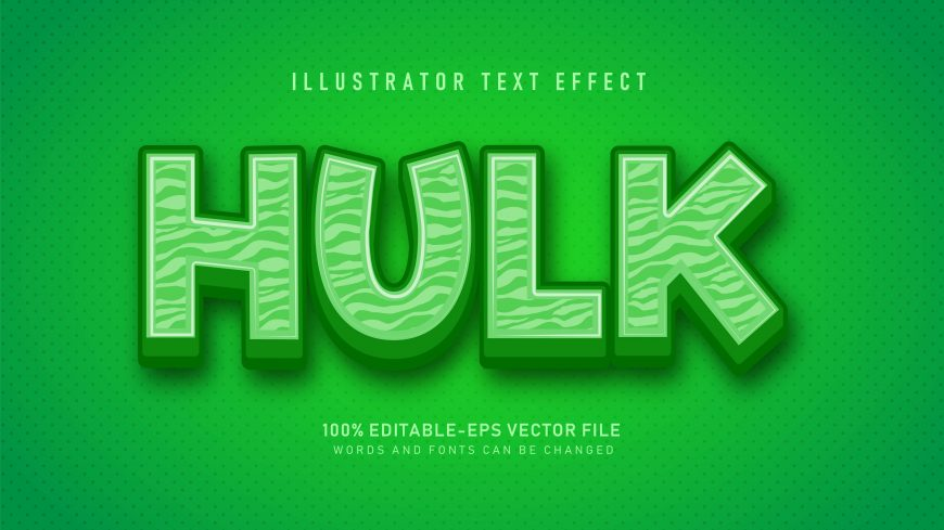 Textured Bold Green Text Effect