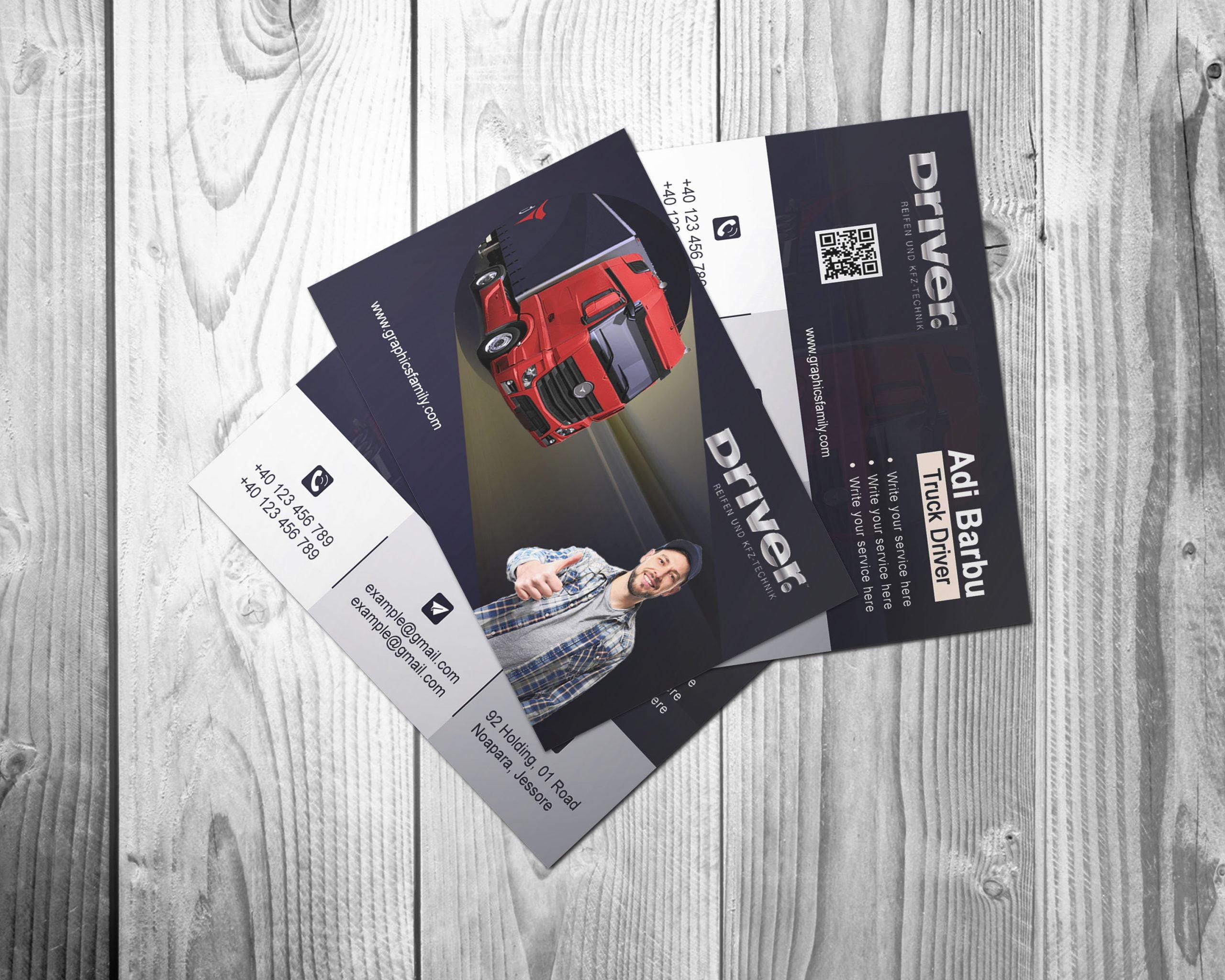 Truck Driver Business Card Design
