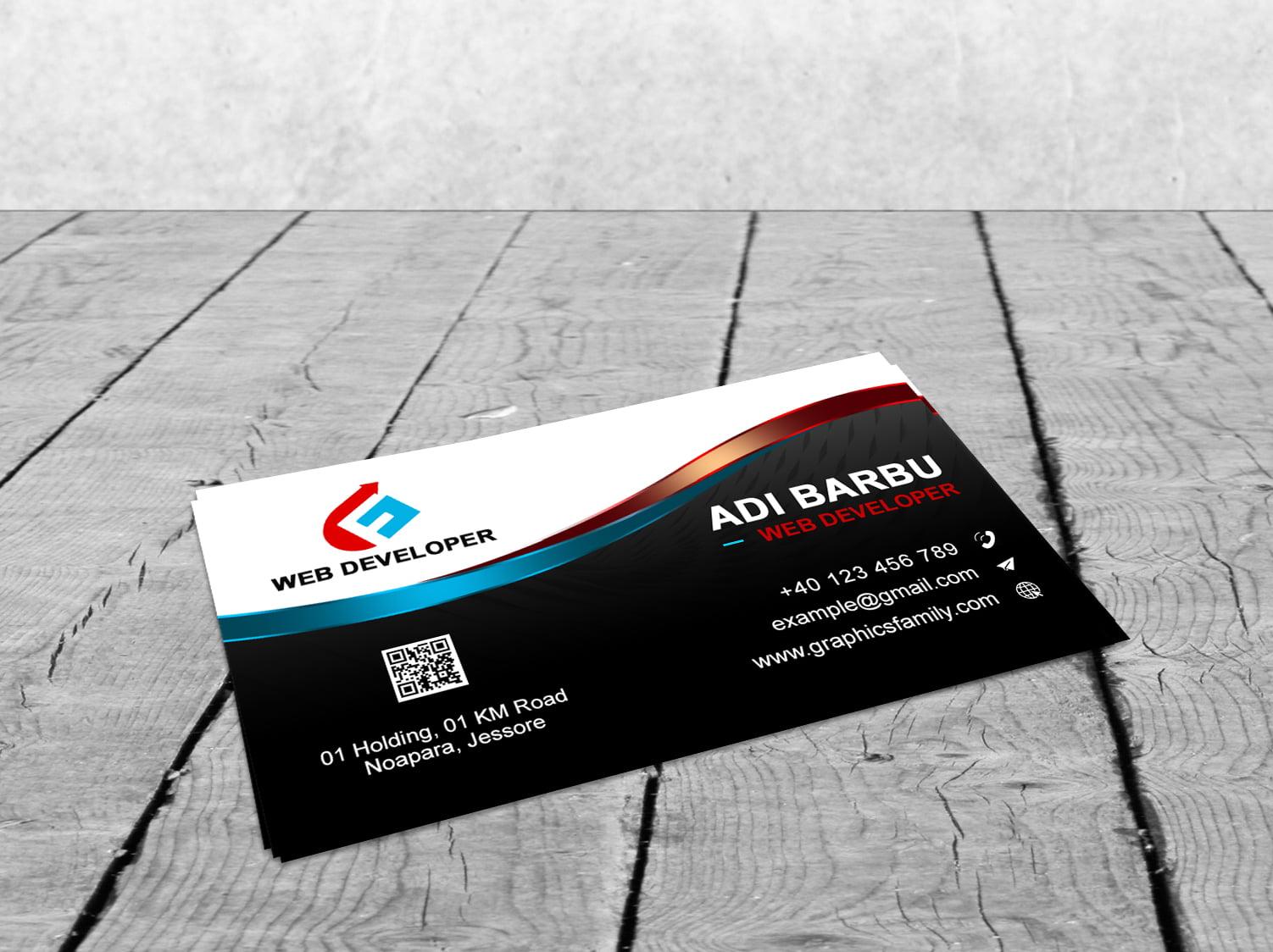 Web Developer Business Card Design Download