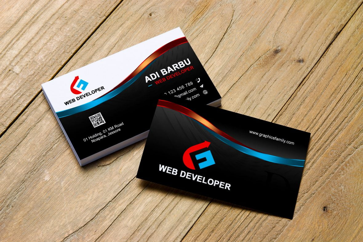 Web Developer Business Card Design Template