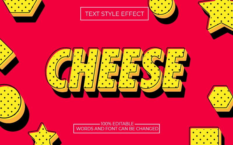 Yellow Black Polka Dot Text Effect