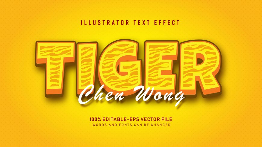 Yellow Tiger Skin Text Effect