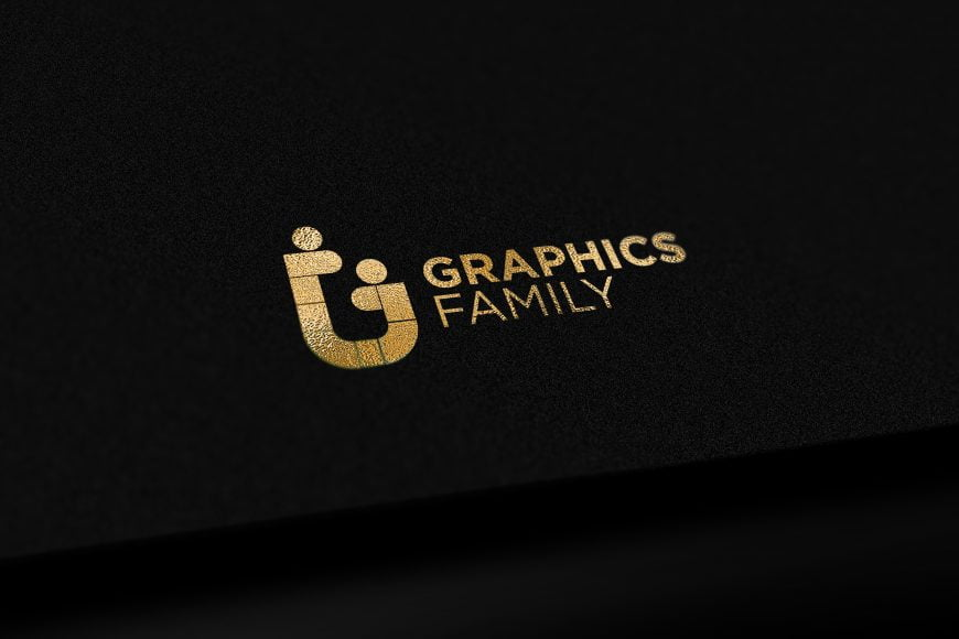 Black Gold Elegant Logo Mockup