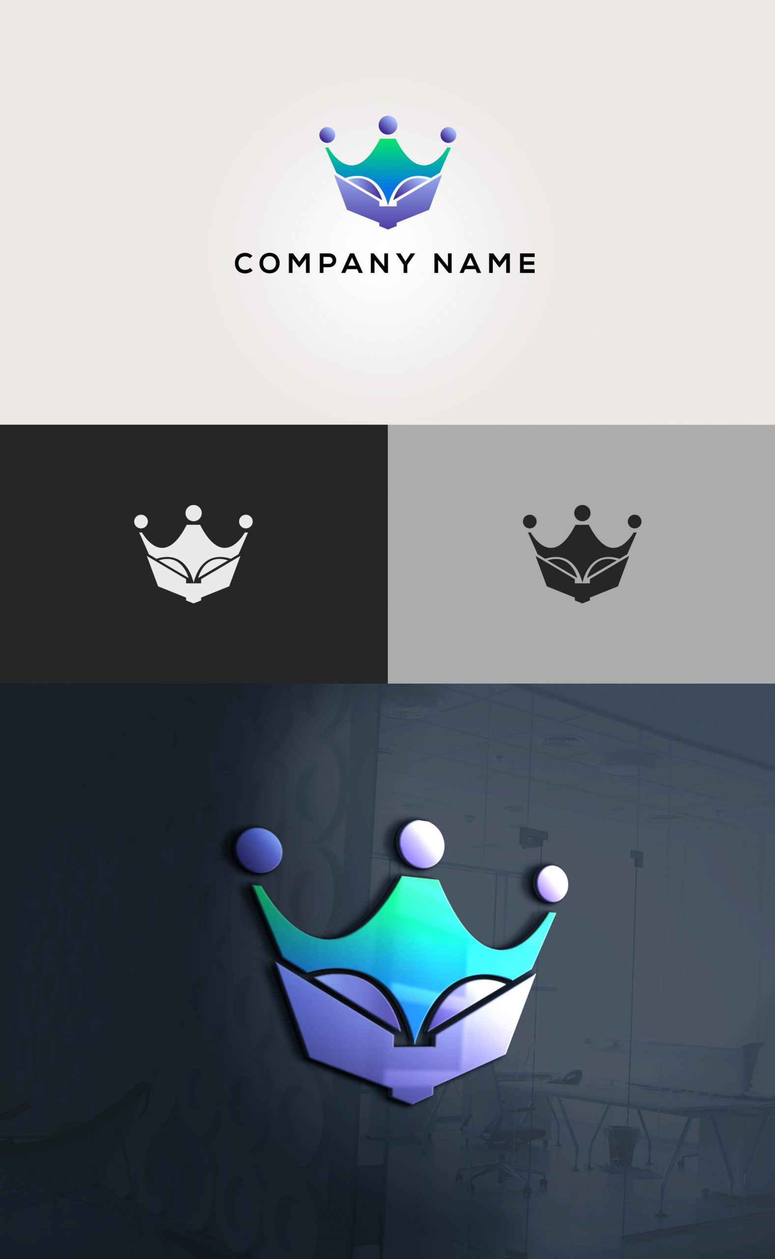 Crown Education Logo Design Vector download