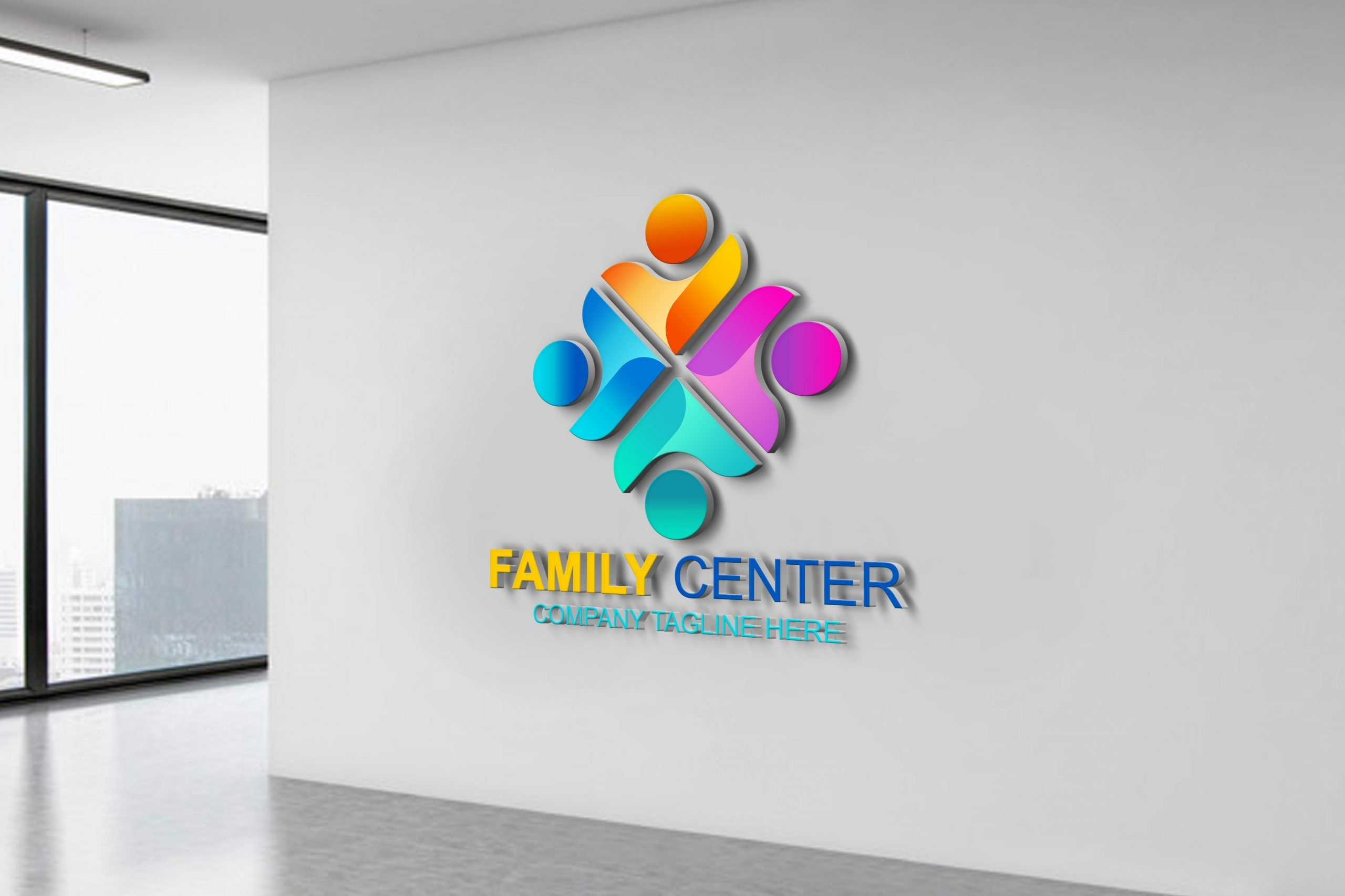 Download .PSD Family Logo Vector Template