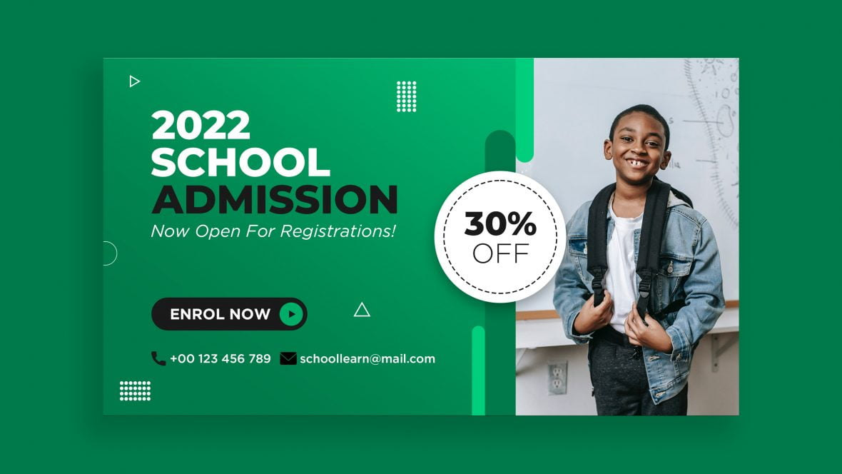 Educational School Admission Banner Template