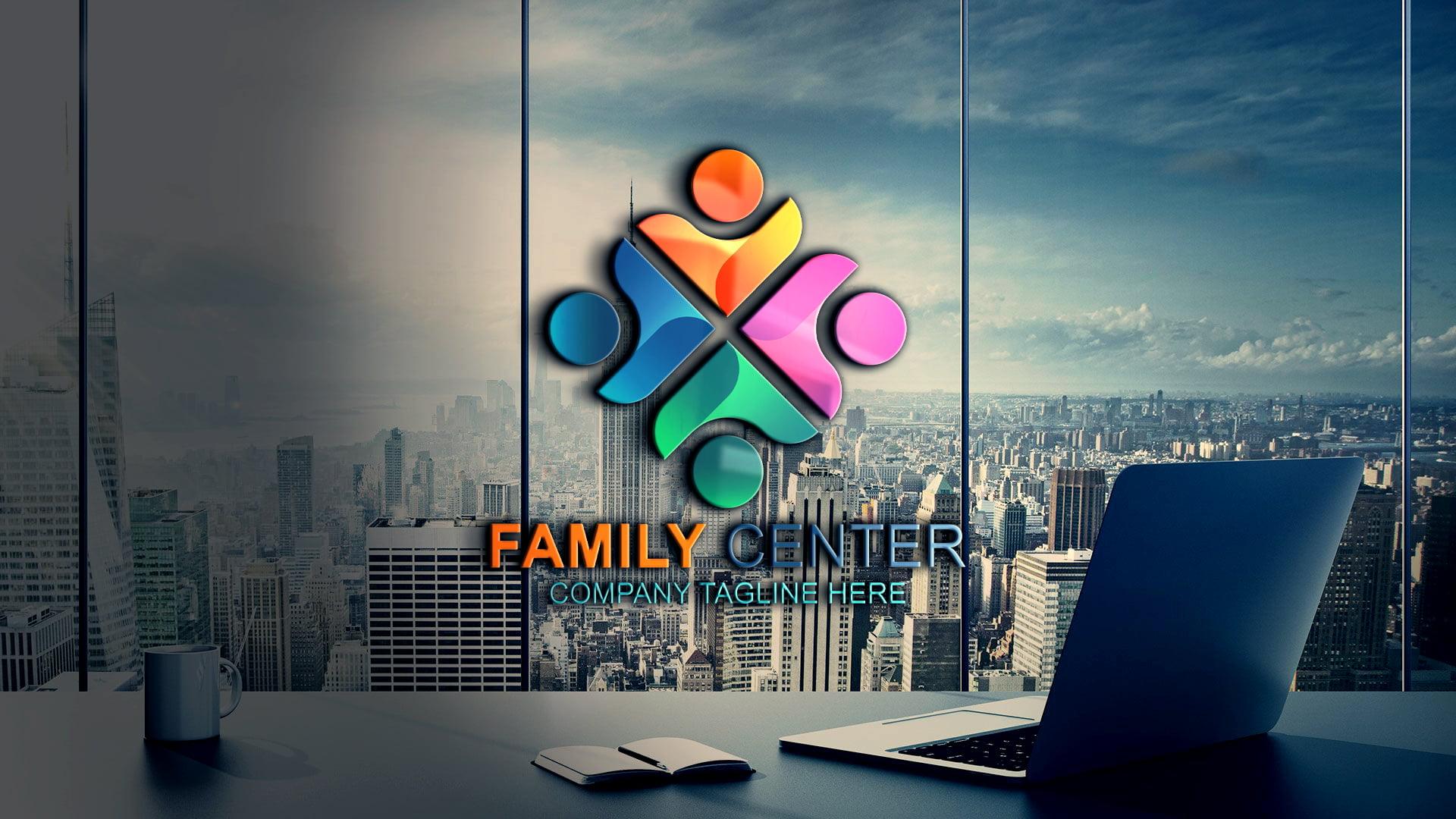Free .PSD Family Logo Vector Template