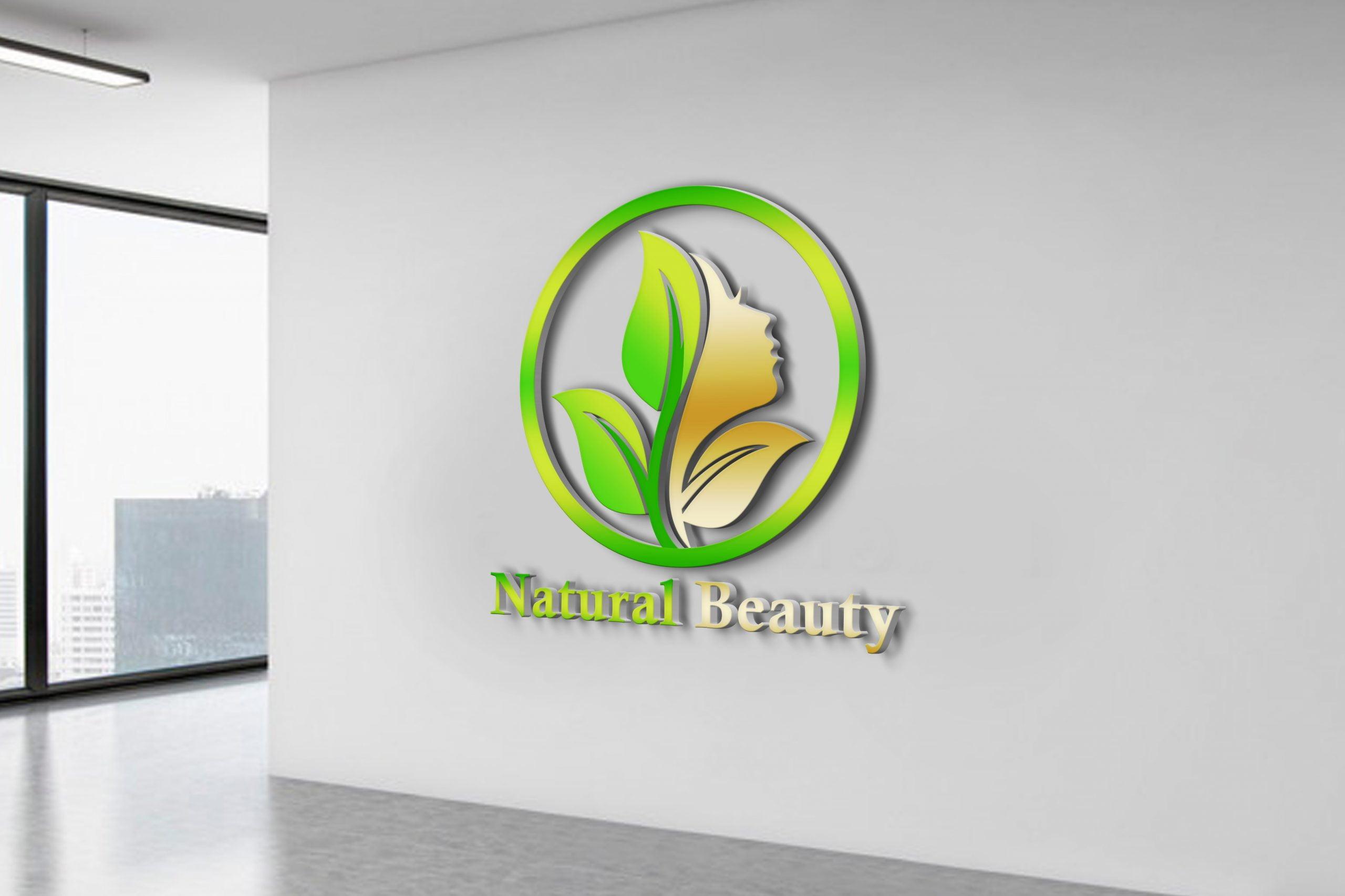 Free Download Natural Beauty Logo Design