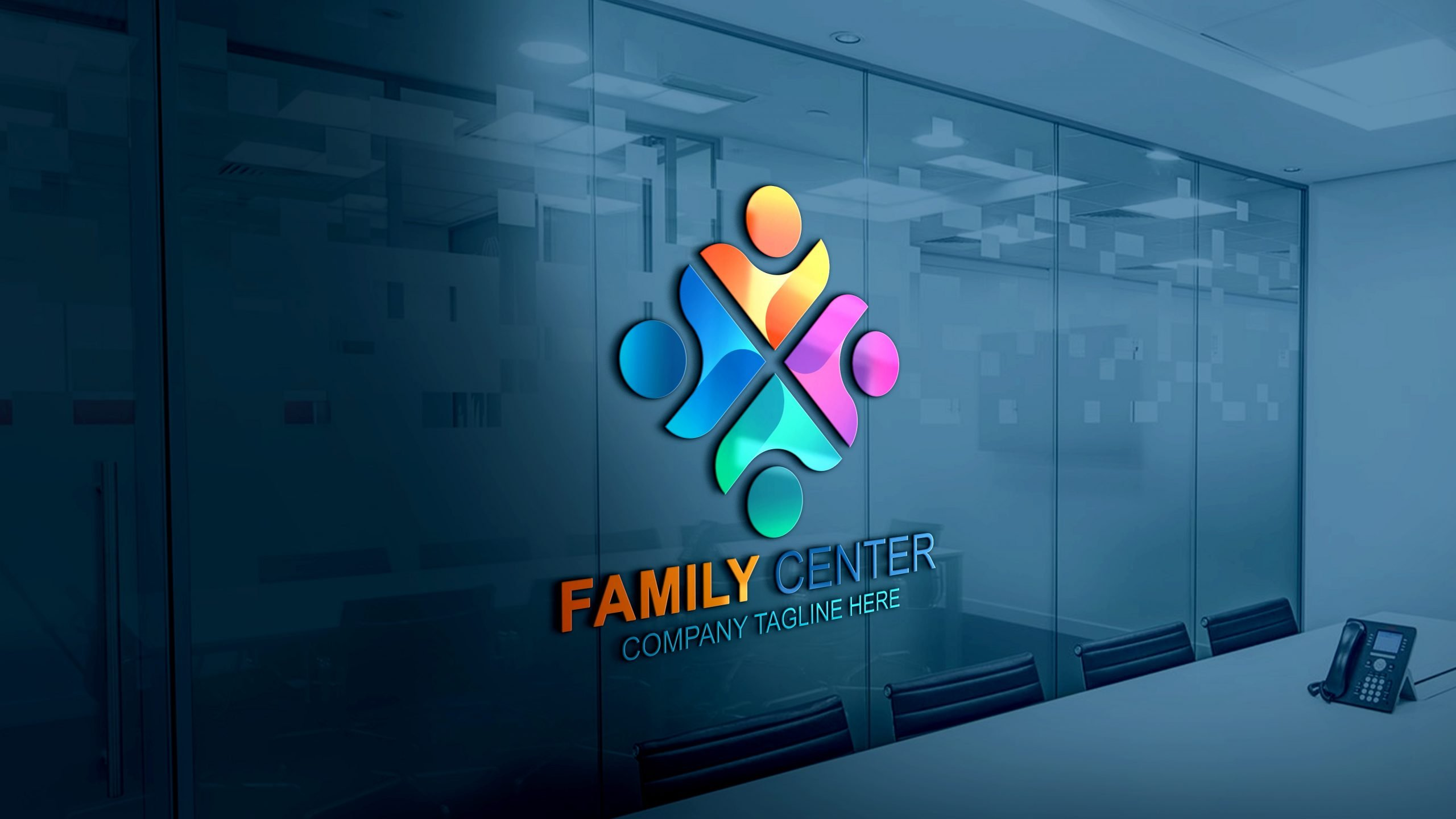 Free Family Logo Vector Template Download