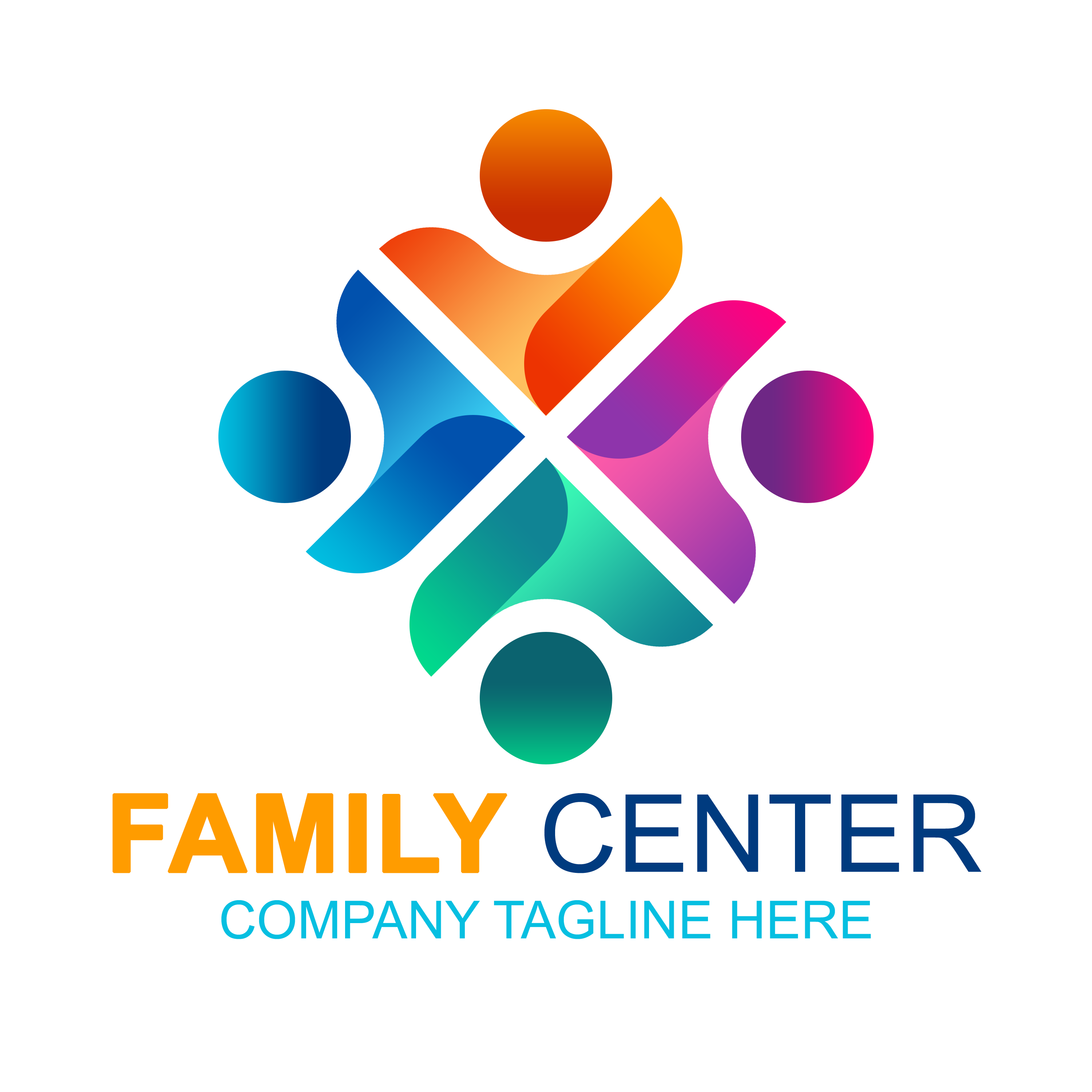 Free Family Logo Vector Template PNG Transparent