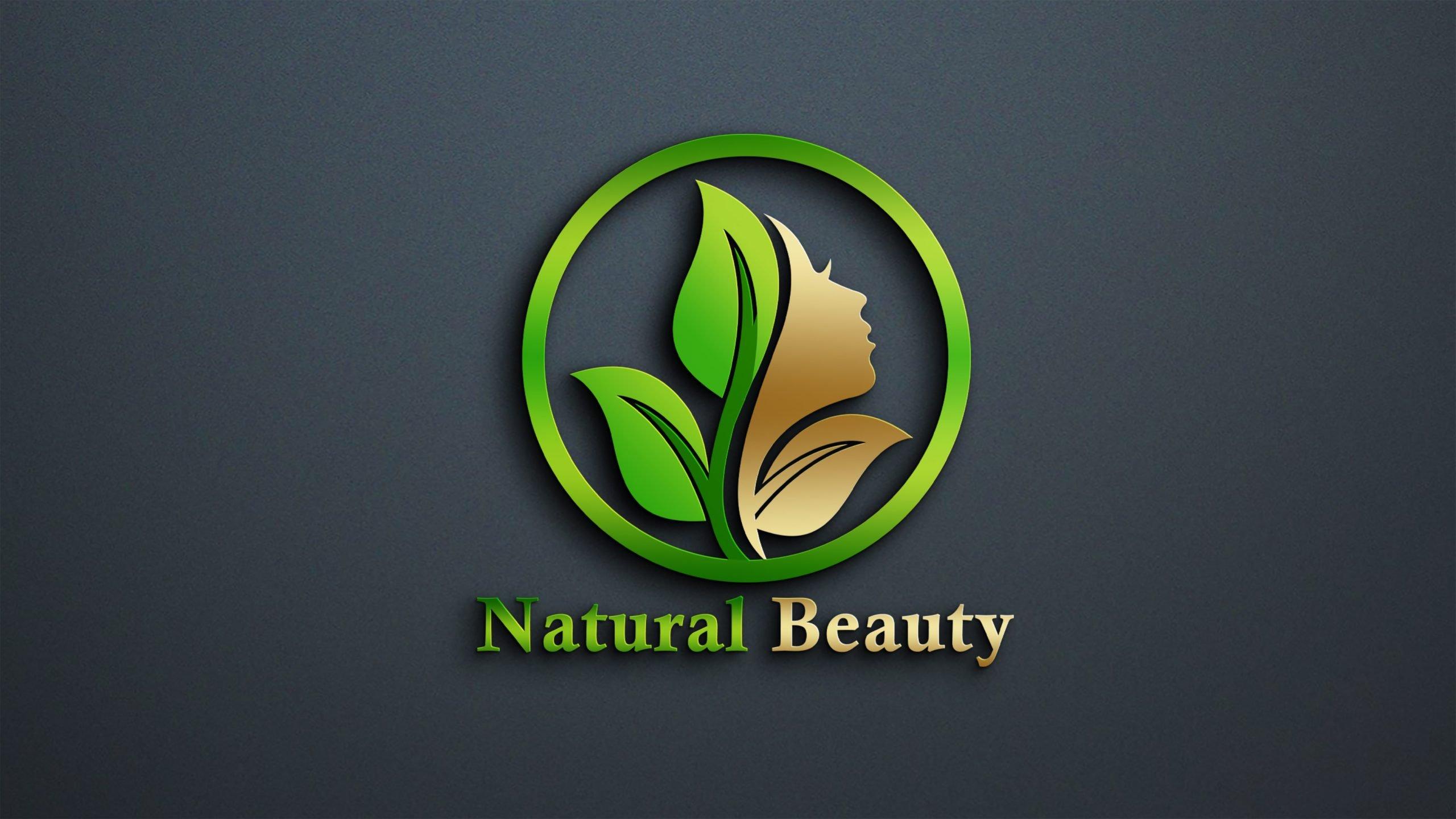 Free PSD Natural Beauty Logo Design