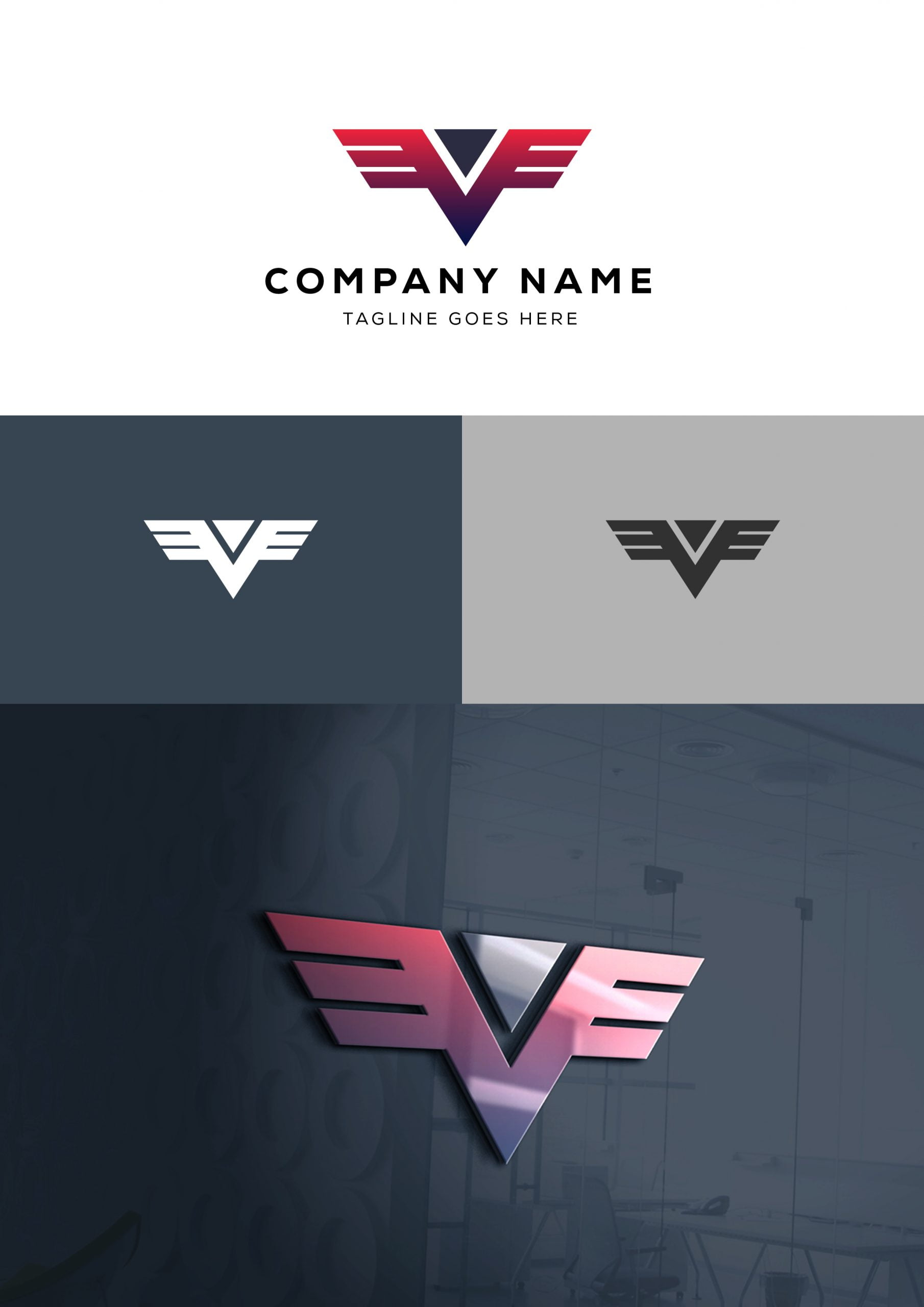 Free Professional Company Logo Design Template