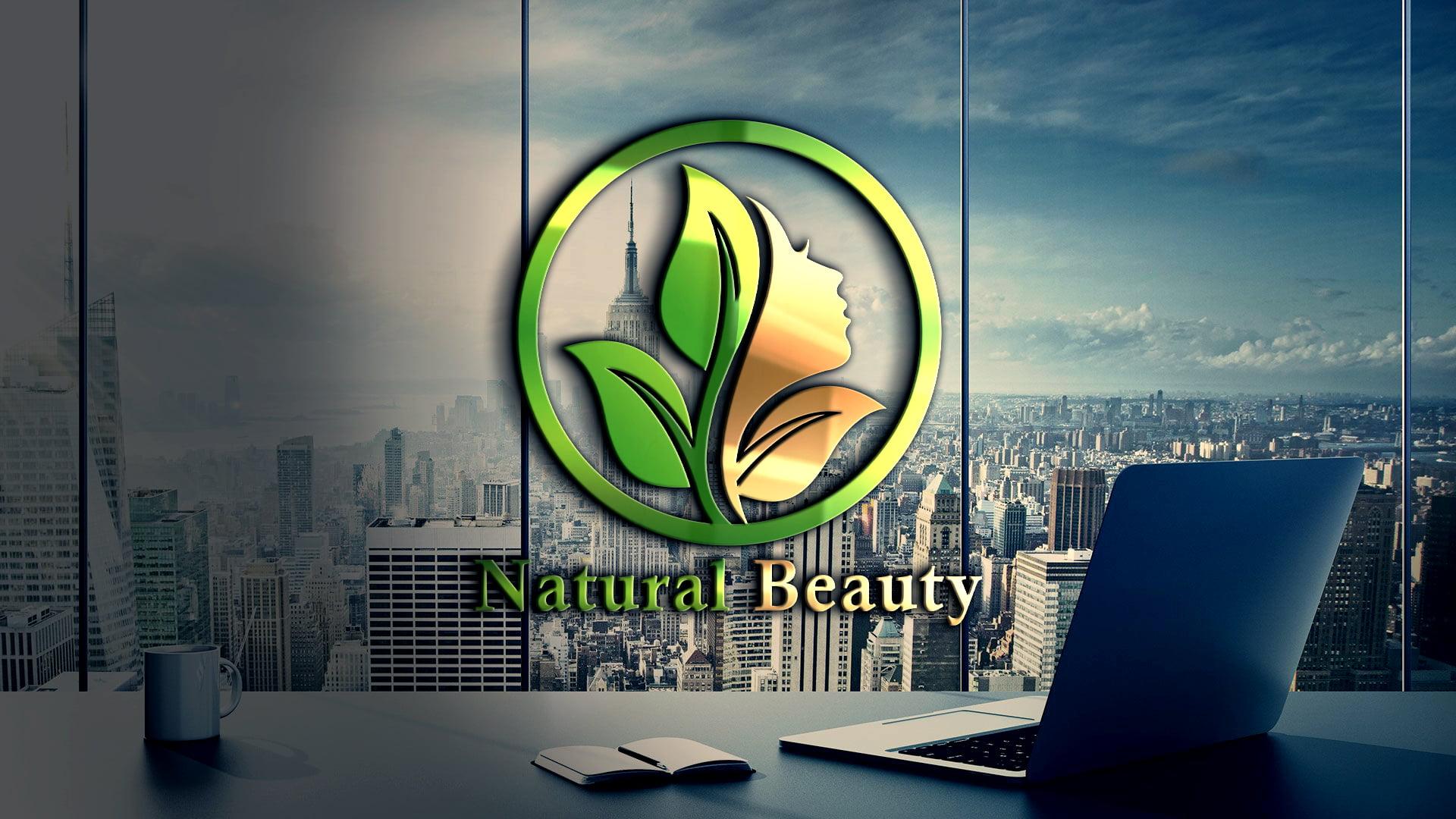 Natural Beauty Logo Design Template