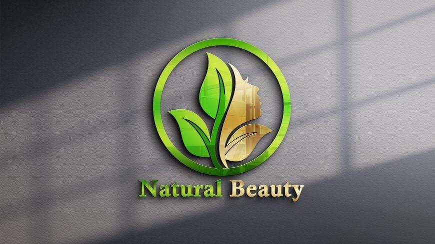 Natural Beauty Logo Design Vector