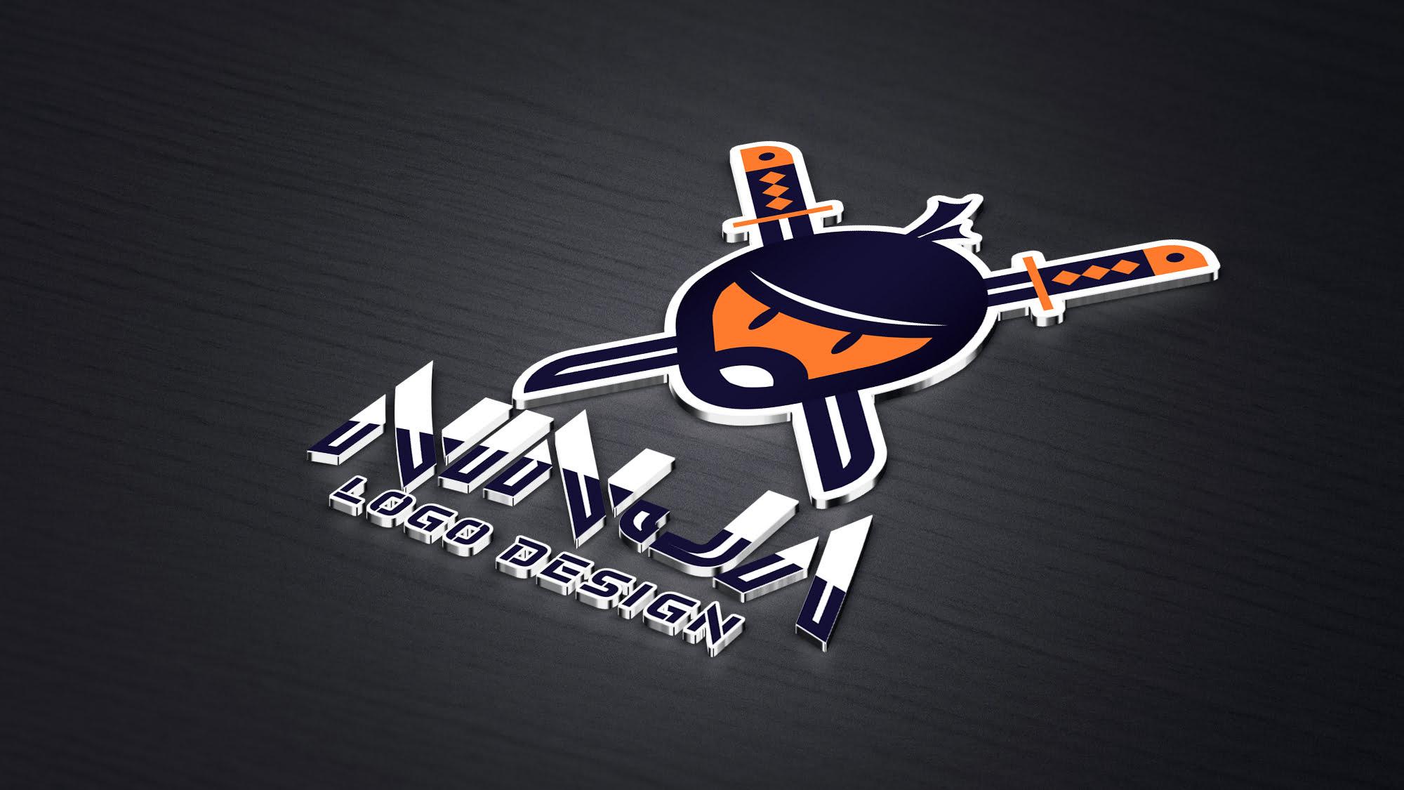 Ninja Logo Design Vector