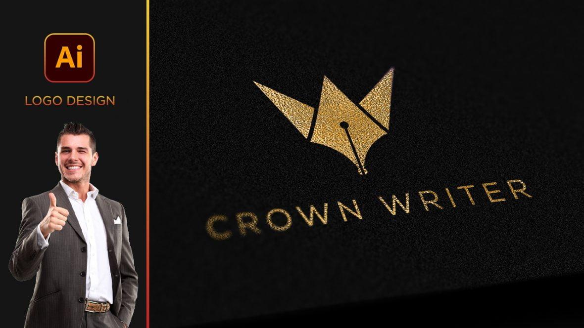 Professional Content Writer Logo Design Vector