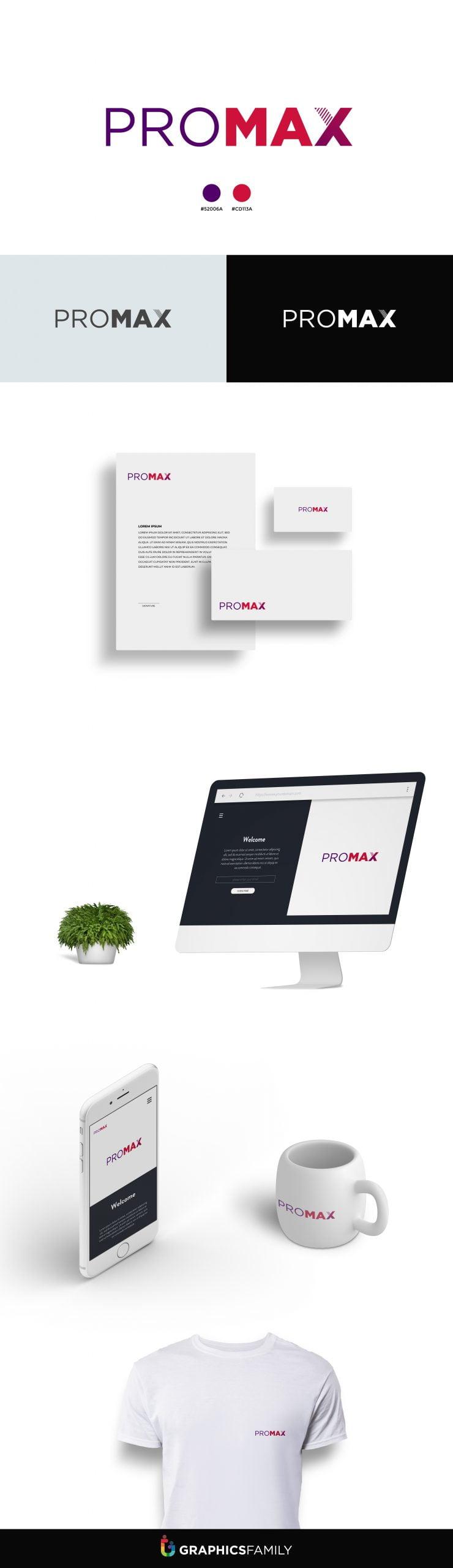 Promax Logo Design Download