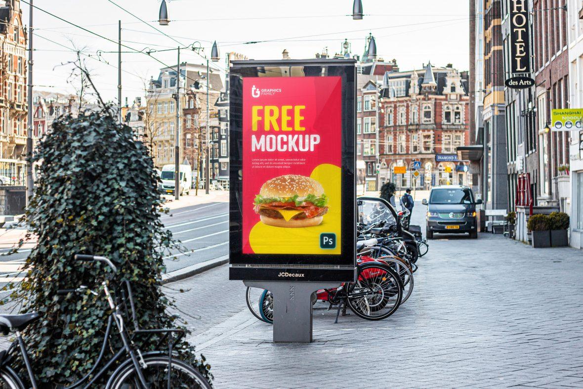 Signboard Poster Mockup