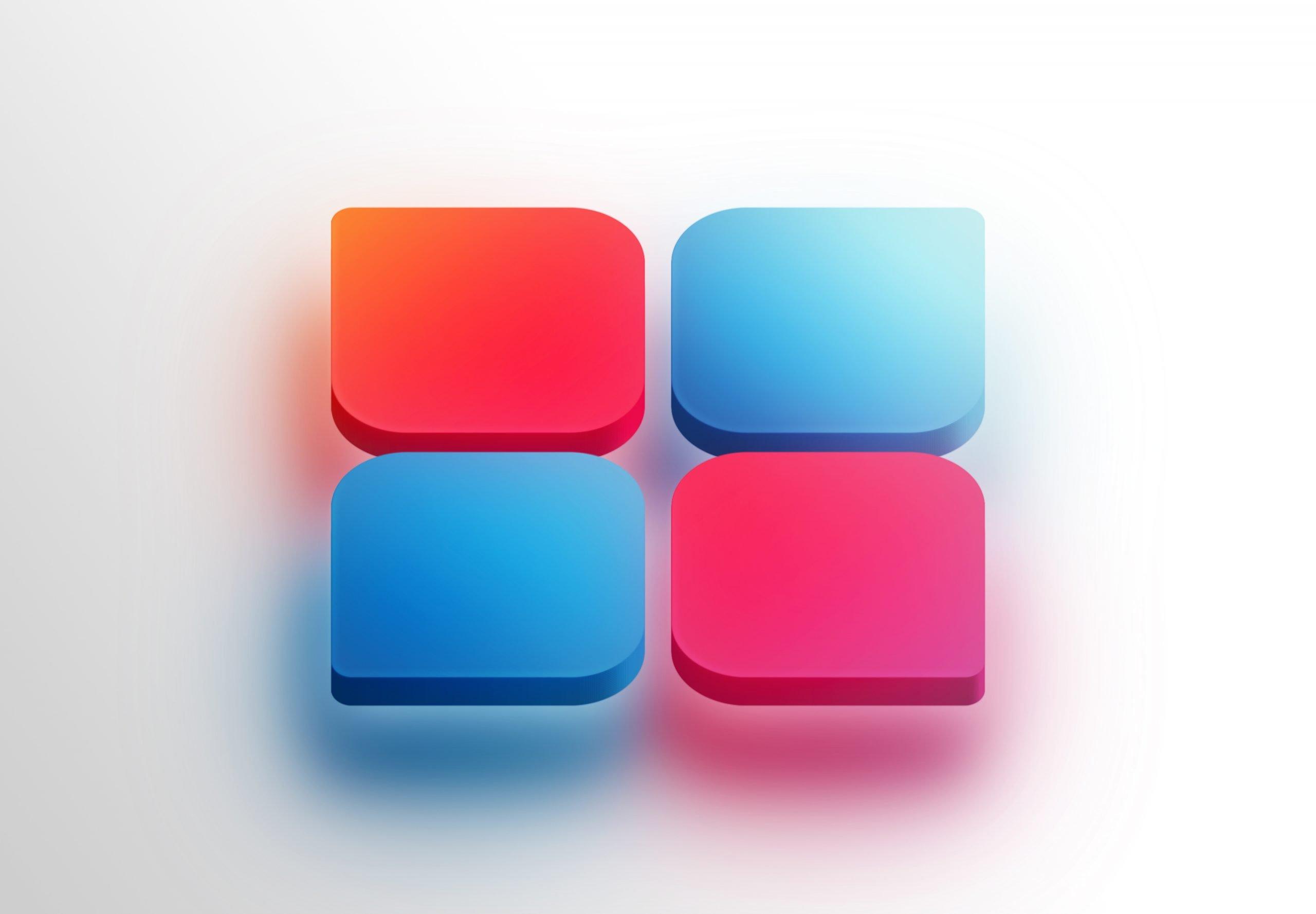 3D Icon Logo Mockup