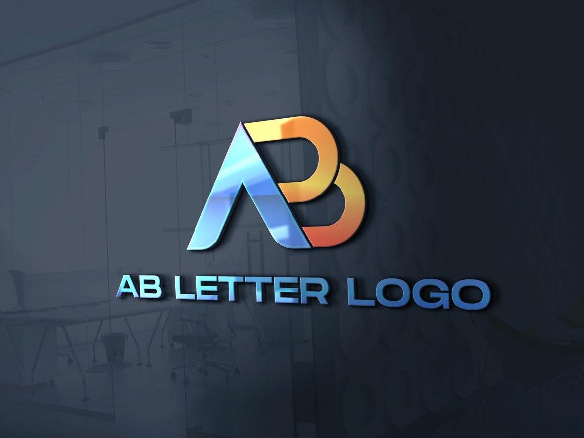 AB Logo Design Vector