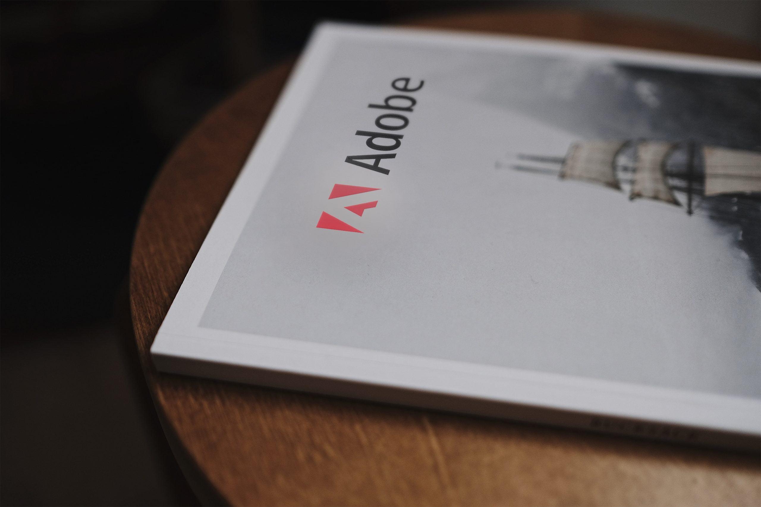 Adobe Book Logo Mockup