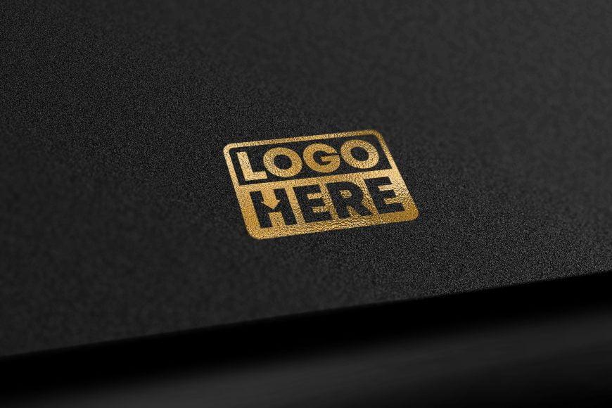 Black Gold Elegant free Logo download Mockup