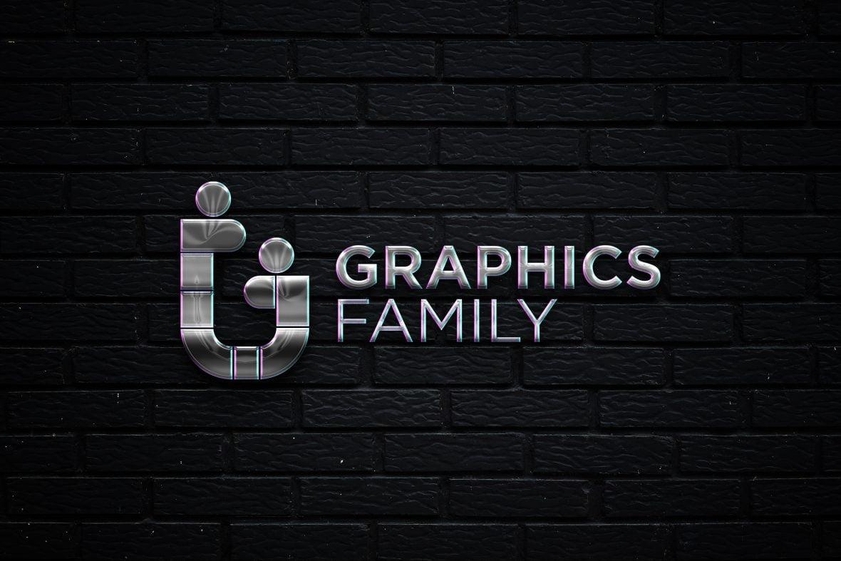 Black Wall Metallic Logo