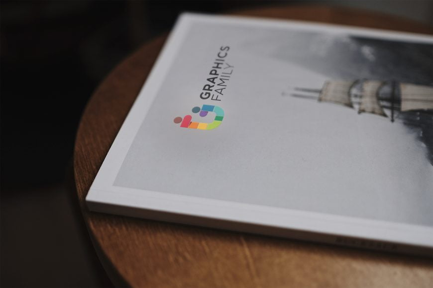Book Logo Mockup