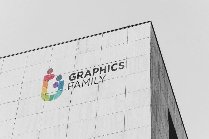 Building Top Logo Mockup