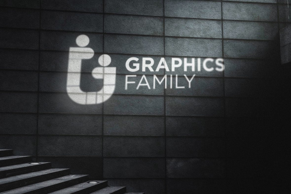 Cinematic Light Rays Logo Mockup