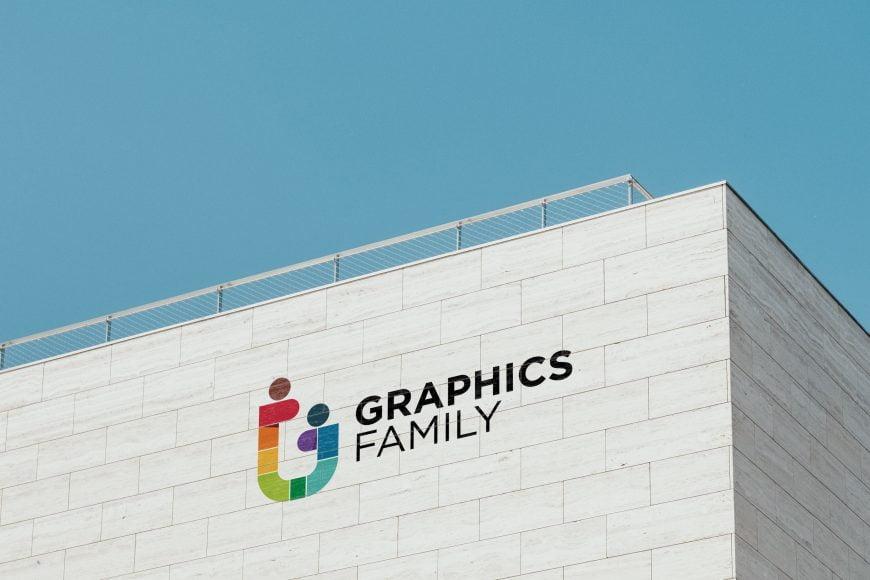 Clean Building Logo Mockup