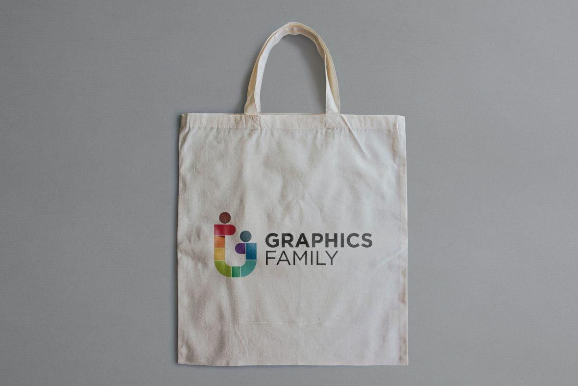 Cloth Bag Logo Mockup