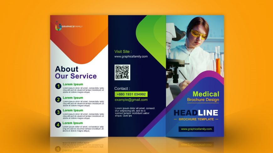 Corporate Medical Trifold Brochure Design
