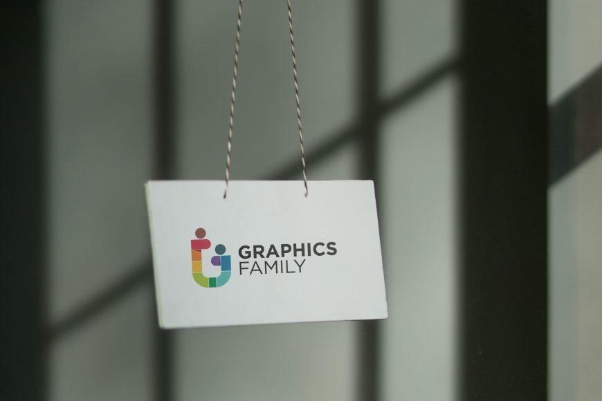 Door tag logo mockup