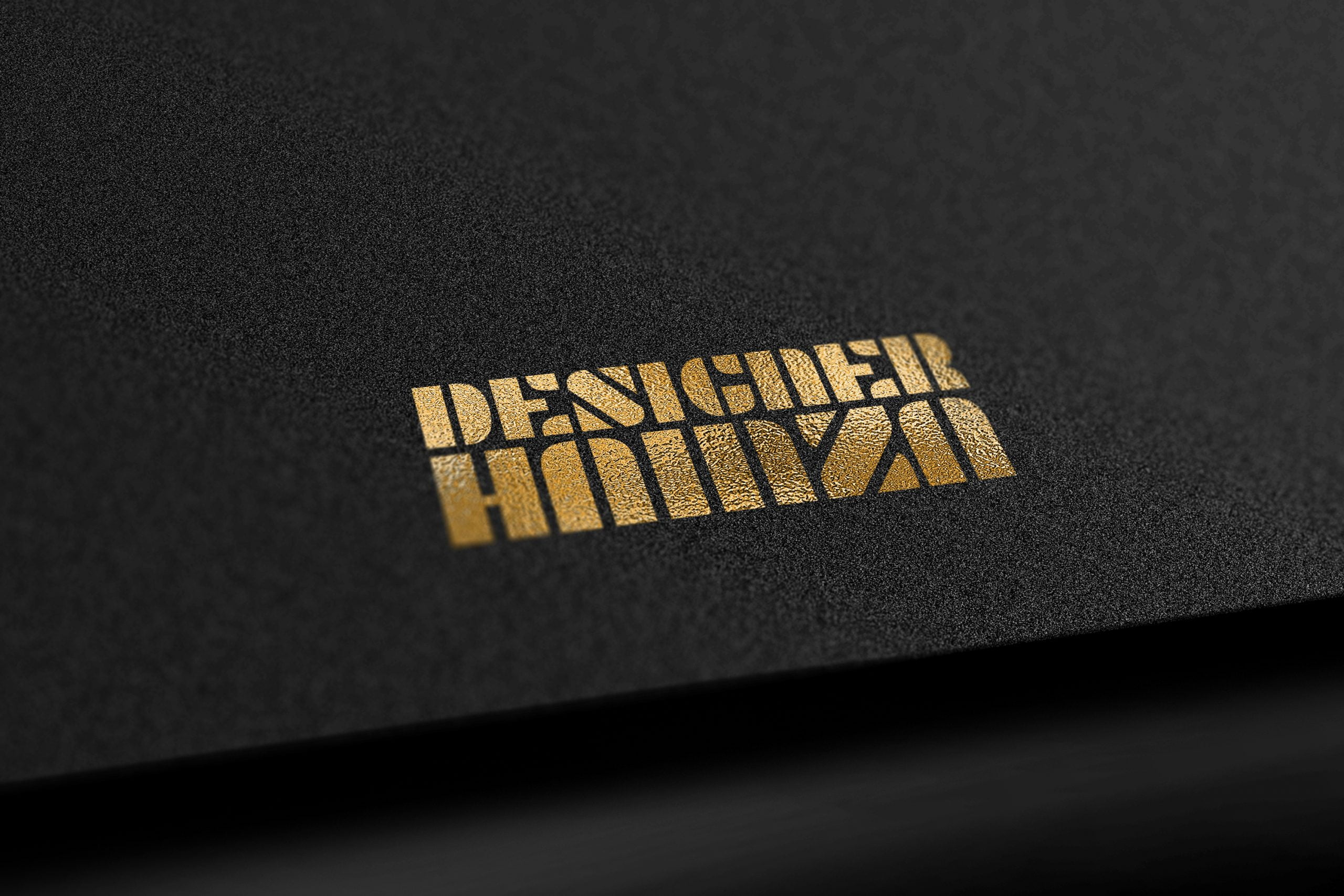 Download Free Black Gold Elegant Logo Mockup