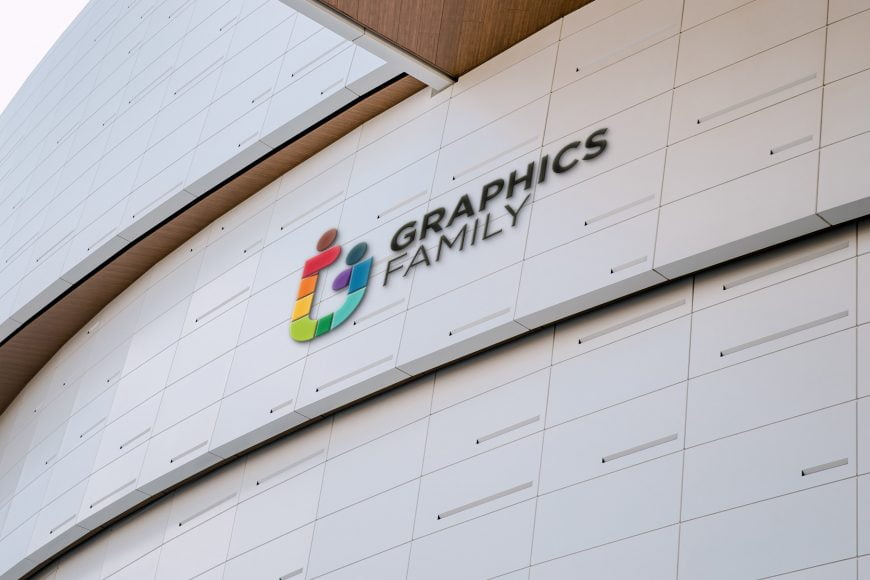 Elegant Tiles Wall Logo Mockup
