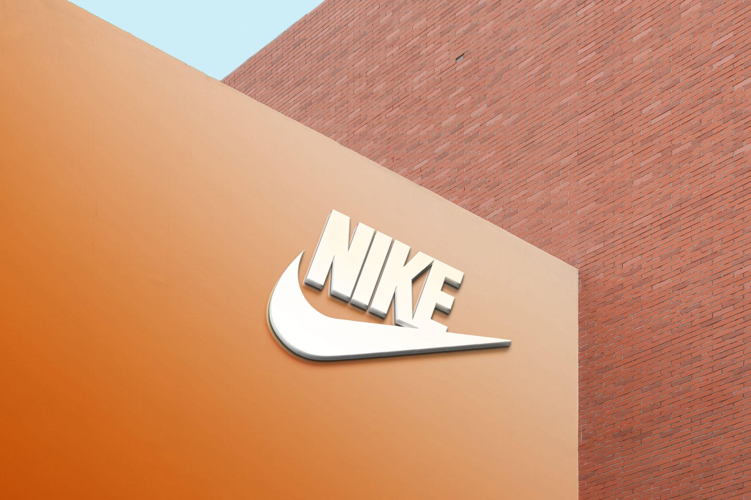 Free 3D Modern Wall with Bricks Logo Mockup